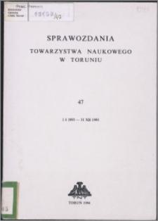 Sprawozdania Towarzystwa Naukowego w Toruniu 1993, nr 47