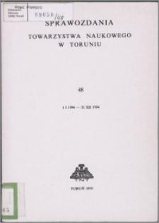 Sprawozdania Towarzystwa Naukowego w Toruniu 1994, nr 48