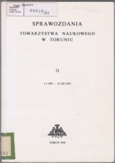 Sprawozdania Towarzystwa Naukowego w Toruniu 1997, nr 51