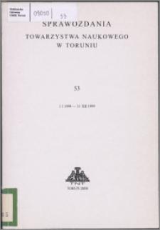 Sprawozdania Towarzystwa Naukowego w Toruniu 1999, nr 53