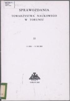 Sprawozdania Towarzystwa Naukowego w Toruniu 2001, nr 55