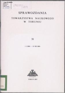 Sprawozdania Towarzystwa Naukowego w Toruniu 2004, nr 58