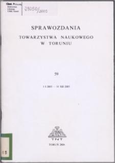 Sprawozdania Towarzystwa Naukowego w Toruniu 2005, nr 59
