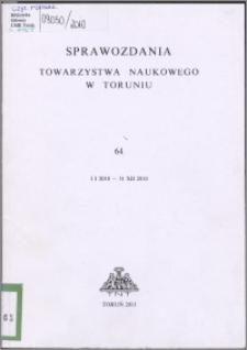 Sprawozdania Towarzystwa Naukowego w Toruniu 2010, nr 64