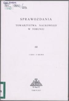 Sprawozdania Towarzystwa Naukowego w Toruniu 2014, nr 68