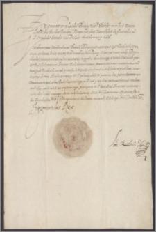 Zygmunt III król polski poleca Wojciechowi Boboli żupnikowi ruskiemu, wypłacić dworzaninowi Janowi Butakowskiemu 500 złp pensji za okres 1 II 1604 - 1 II 1605