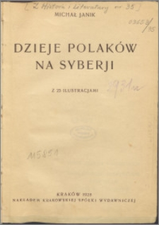 Dzieje Polaków na Syberii