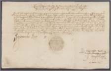 Zygmunt III król polski pozwala Janowi Scipionowi Kampowi i jego żonie Hannie przejąć w dożywocie wieś Poszuszwie w księstwie żmudzkim z rąk Krystyny Twardowskiej primo voto Hieronimowej Scipionowej Kampowej