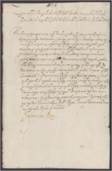Zygmunt III król polski poleca hetmanowi Janowi Karolowi Chodkiewiczowi zlożyć relację z przebiegu rokowań z Moskwą i wyjaśnić przyczynę ich zerwania