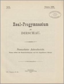 Real-Progymnasium zu Dirschau. Neunzehnter Jahresbericht