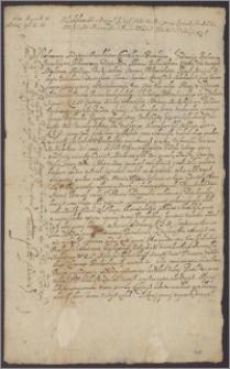 Władysław IV król polski nakazuje rozsądzić spór między Piotrem Świackim a leśniczym przełomskim o 13 włók nadanych Siemionowi Miłowiczowi