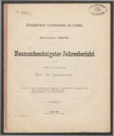 Königliches Gymnasium zu Conitz. Schuljahr 1889/90. Neunundsechzigster Jahresbericht