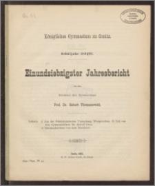 Königliches Gymnasium zu Conitz. Schuljahr 1891/92. Einundsiebzigster Jahresbericht
