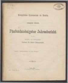 Königliches Gymnasium zu Konitz. Schuljahr 1895/96. Fünfundsiebzigster Jahresbericht