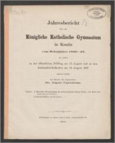 Jahresbericht über das Königliche Katholische Gymnasium in Konitz vom Schuljahre 1866-1867