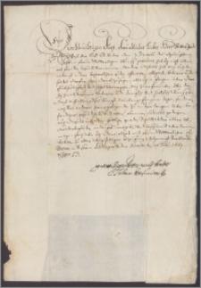 Jan Kazimierz król polski do księcia Alberta margrabiego Dolnej Bawarii. Dziękuje za list z gratulacjami z 7 XII 1663 i przesyła najlepsze życzenia dla margrabiego