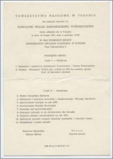 [Zaproszenie. Incipit] Towarzystwo Naukowe w Toruniu ma zaszczyt zaprosić na Doroczne Walne Zgromadzenie ... 19 lutego 1971 roku