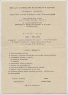 [Zaproszenie. Incipit] Zarząd Towarzystwa Naukowego w Toruniu ma zaszczyt zaprosić na Doroczne Walne Zgromadzenie Towarzystwa ... 19 lutego 1968 roku