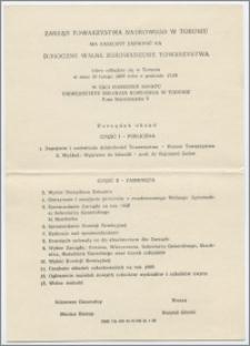 [Zaproszenie. Incipit] Zarząd Towarzystwa Naukowego w Toruniu ma zaszczyt zaprosić na Doroczne Walne Zgromadzenie Towarzystwa ... 19 lutego 1969 roku