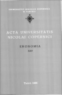 Acta Universitatis Nicolai Copernici. Nauki Humanistyczno-Społeczne. Ekonomia, z. 25 (299), 1995