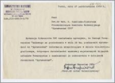 """[Zawiadomienie. Incipit] Redakcja Wydawnictwa TNT zawiadamia..., że Zarząd Towarzystwa Naukowego .. .postanowił wprowadzić do """"Sprawozdań"""" informacje uzupełniające w dziale bio-bibliograficznym"""