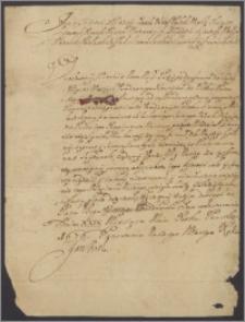 Jan III król polski zleca Józefowi Borkowi marszałkowi trybunału głównego w Lublinie, aby sprawę Henryka de Beaulieu przeciw Dobrskiemu i Milewskiemu o pobicie i więzienie kapitana Jerzego Kralla rozsądzono sprawiedliwie