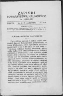 Zapiski Towarzystwa Naukowego w Toruniu, T. 8 nr 3/4, (1929)