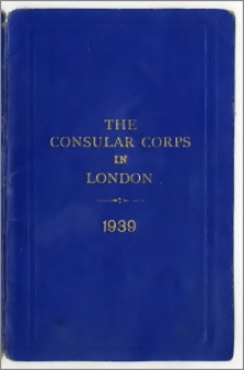 The Consular Corps in London 1939