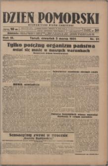 Dzień Pomorski 1931.03.05, R. 3 nr 51