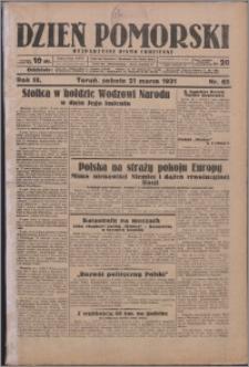 Dzień Pomorski 1931.03.21, R. 3 nr 65