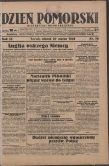 Dzień Pomorski 1931.03.27, R. 3 nr 70