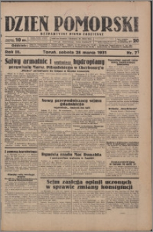 Dzień Pomorski 1931.03.28, R. 3 nr 71