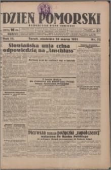 Dzień Pomorski 1931.03.29, R. 3 nr 72