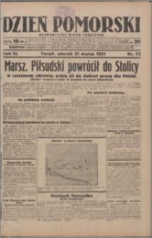 Dzień Pomorski 1931.03.31, R. 3 nr 73