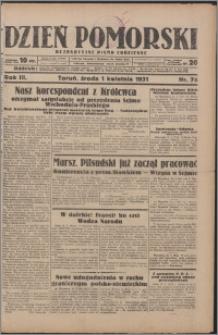 Dzień Pomorski 1931.04.01, R. 3 nr 74