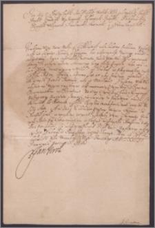 Jan III król polski zawiadamia szlachtę powiatu oszmiańskiego o zwołaniu sejmu w Warszawie, a nie w Grodnie, gdzie wg prawa przypada