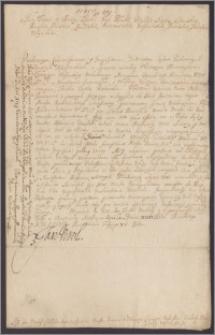 Jan III król polski nakazuje komisarzom wyznaczonym dekretem sądu nadwornego asesorskiego do sporu między chorągwią husarską kanclerza Marcjana Ogińskiego a miastem Kownem,odesłali sprawę pod sąd królewski relacyjny