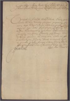 Jan III król polski do N. N. księdza. Przesyła prezentę na kanonię warszawską i życzy by to był stopień do większych godności