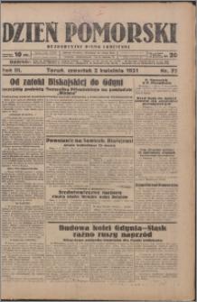 Dzień Pomorski 1931.04.02, R. 3 nr 75