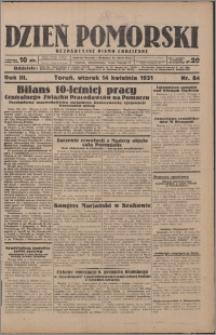 Dzień Pomorski 1931.04.14, R. 3 nr 84