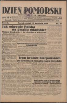 Dzień Pomorski 1931.04.17, R. 3 nr 87