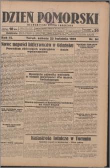 Dzień Pomorski 1931.04.25, R. 3 nr 94