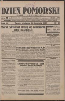 Dzień Pomorski 1931.04.26, R. 3 nr 95