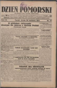 Dzień Pomorski 1931.04.29, R. 3 nr 97
