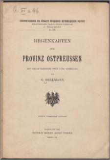 Regenkarten der Provinz Ostpreussen : mit erläuterndem Text und Tabellen