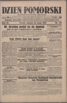 Dzień Pomorski 1931.05.23, R. 3 nr 117