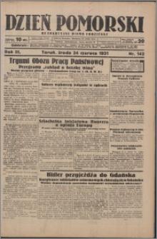 Dzień Pomorski 1931.06.24, R. 3 nr 142