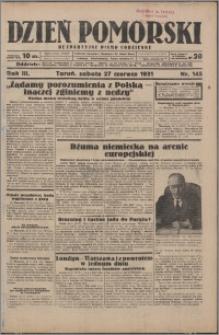 Dzień Pomorski 1931.06.27, R. 3 nr 145