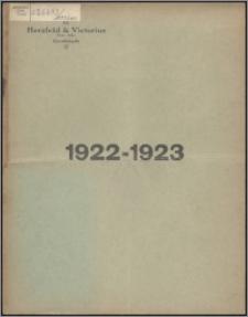 Sprawozdanie z Czynności w roku 1922-1923 / Herzfeld & Victorius Tow. Akc. w Grudziądzu