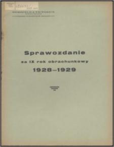 Sprawozdanie za IX Rok Obrachunkowy 1928-1929 / Herzfeld & Victorius Tow. Akc. w Grudziądzu